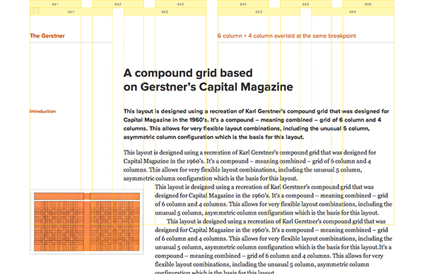 An example grid, the Gerstner, on the Gridset App website.