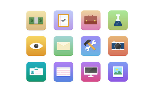 Flat Surfing Icons