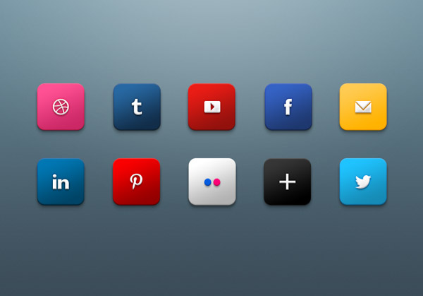 Social Media Icons for 2013 by Harkable