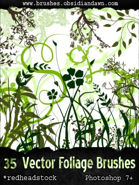 88-vector-foliage-plants-brushes