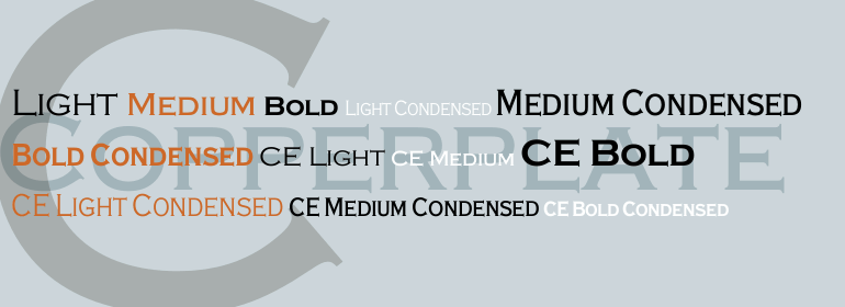 Copperplate: Stylish fantasy font for headings.