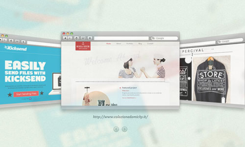instantShift - 3D Gallery with CSS3 and jQuery