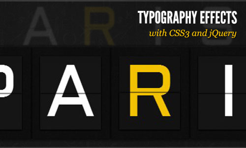 instantShift - Typography Effects with CSS3 and jQuery