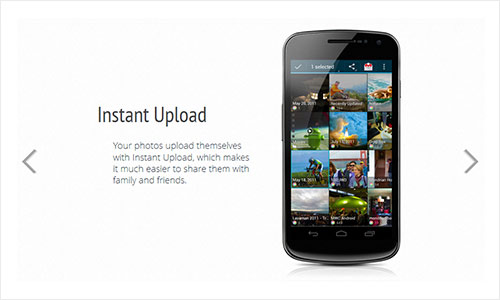 instantShift - Impressive Product Showcase with CSS3