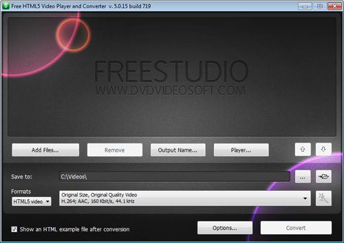 DVDVideoSoft Free HTML5 Video Player And Converter