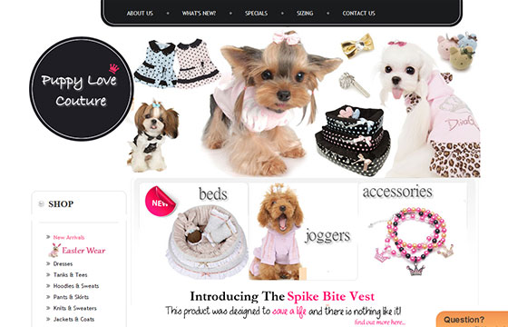 Animal Website - Puppy Love Couture