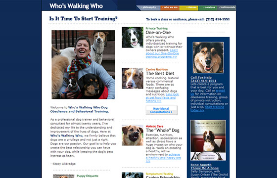 Animal Website - Who's Walking Who