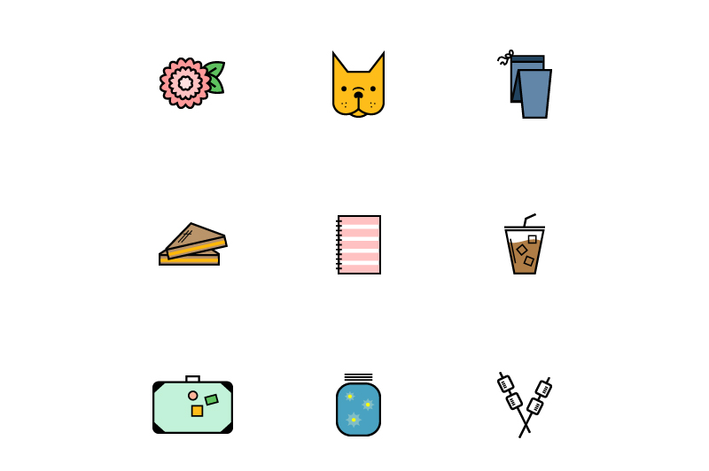 Favorite Things Icons PSD