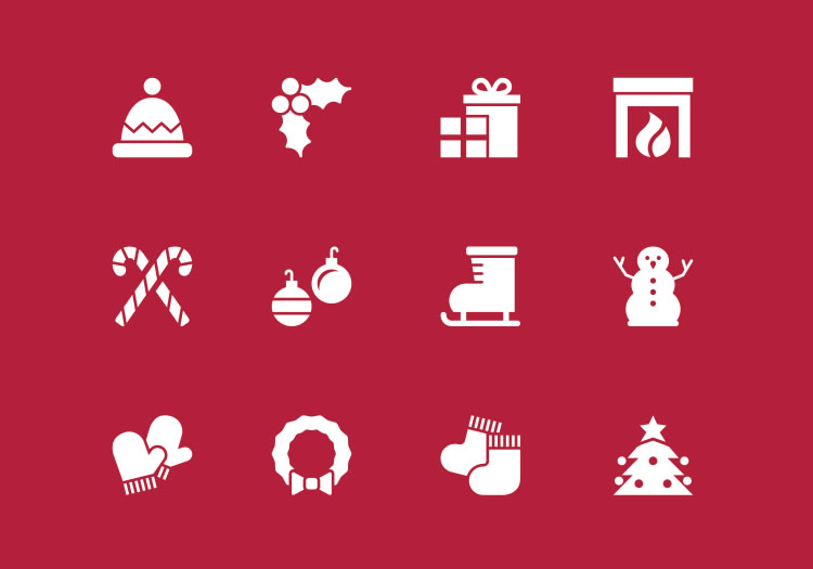 12 Vector Holiday Icons