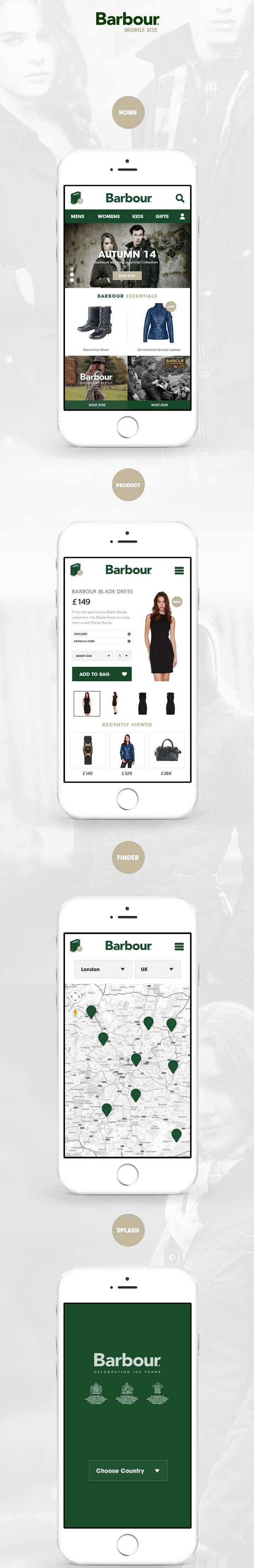 Barbour England - Mobile Site Design