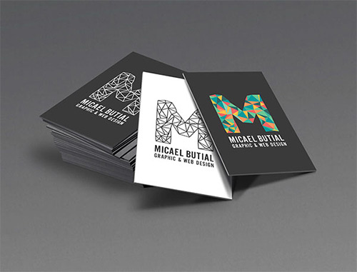graphic low poly business card
