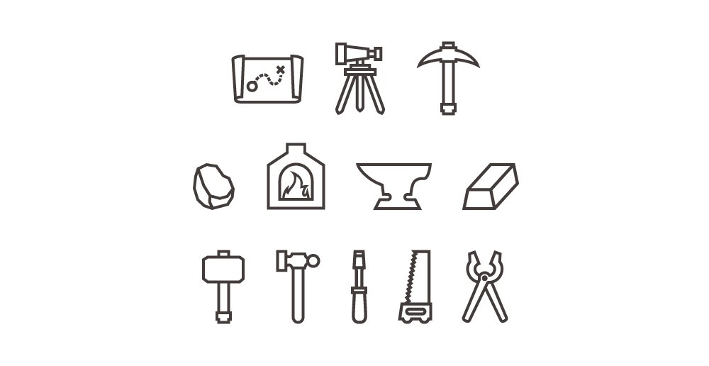 Forge Icons PSD