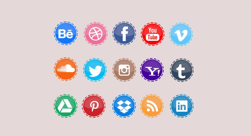Social Network Icons PSD