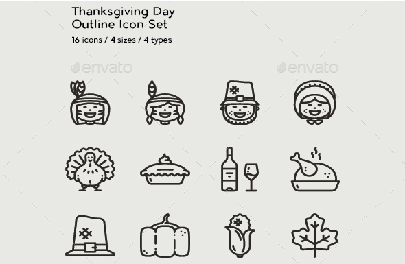 Thanksgiving-Day-Outlined