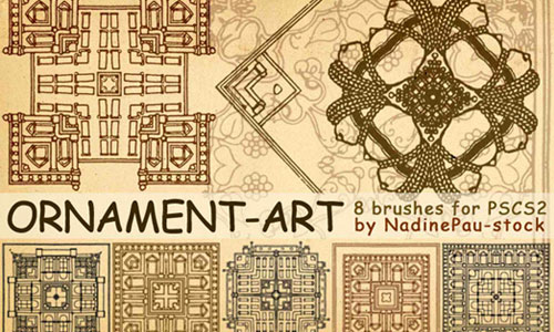 Ornament-art brushes