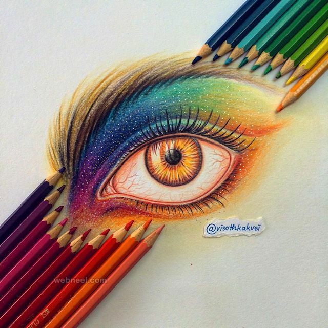 color pencil drawing eyes