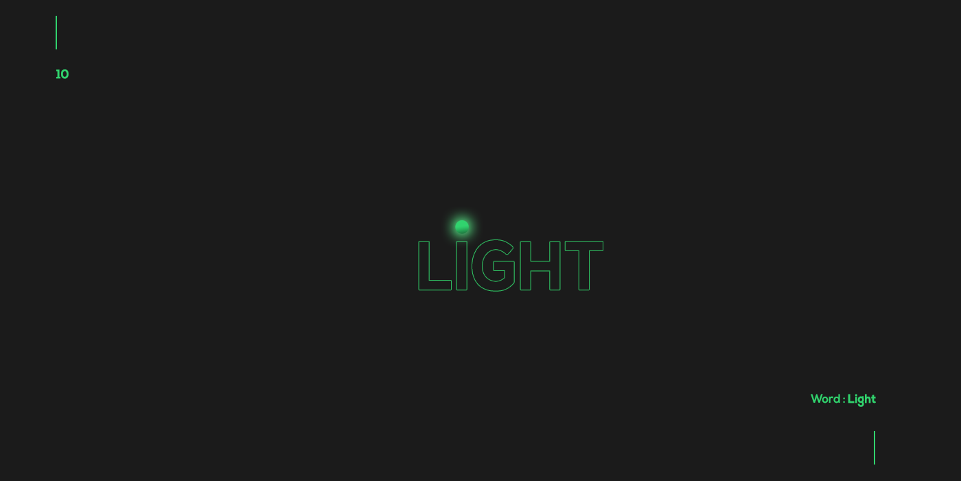 Creative typographic logos that visualize the meanings of words - Light
