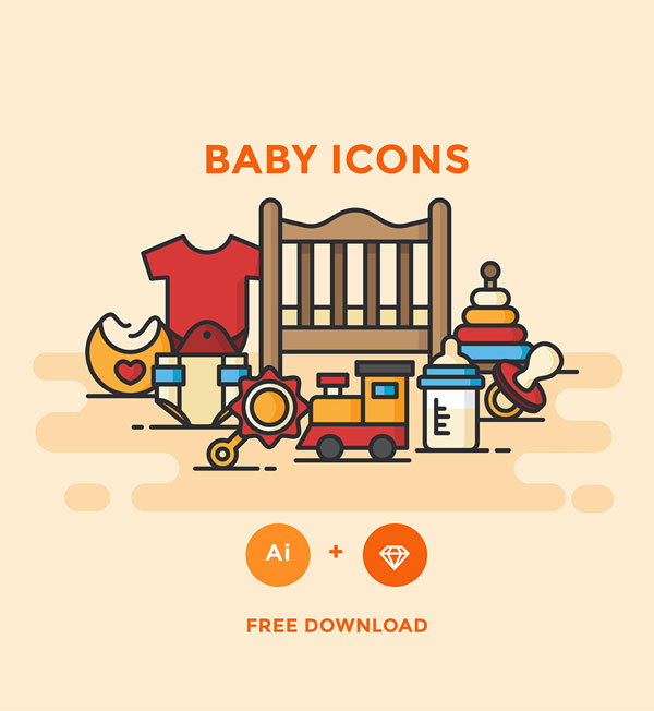 Free Flat Graphics for Designers - 27