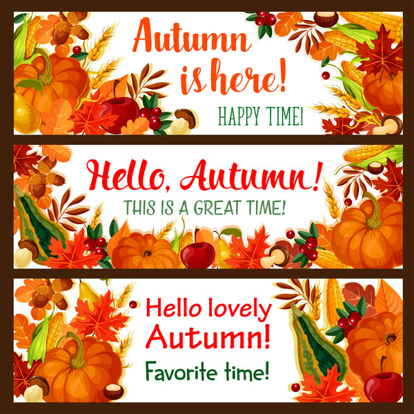 Harvest the fall banner vector material 06