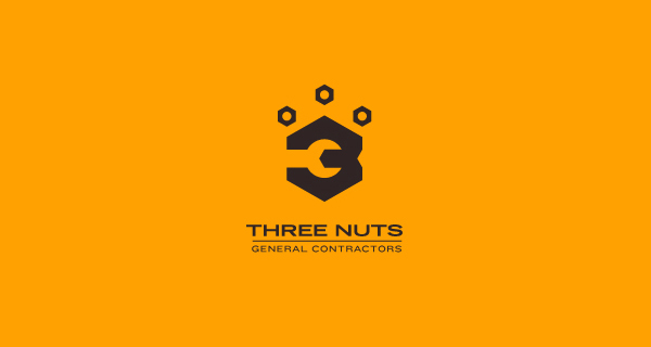 Creative logo designs that use negative space - Three Nuts