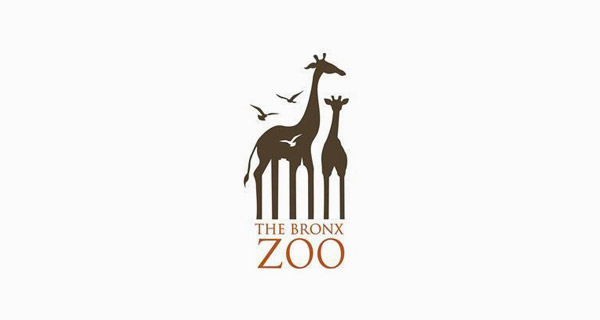 Creative logo designs that use negative space - The Bronx Zoo