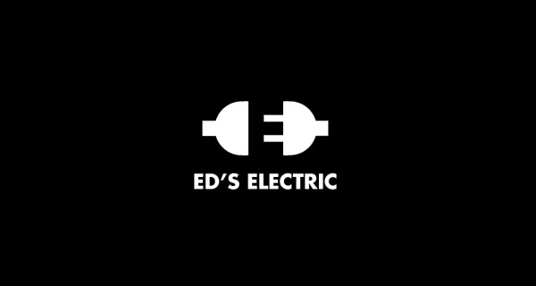 Creative logo designs that use negative space - Ed's Electric