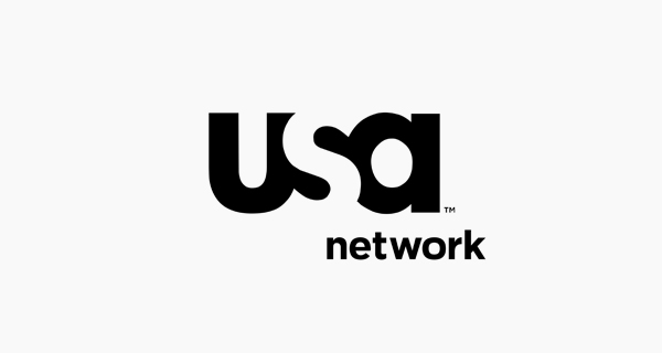 Creative logo designs that use negative space - USA Network