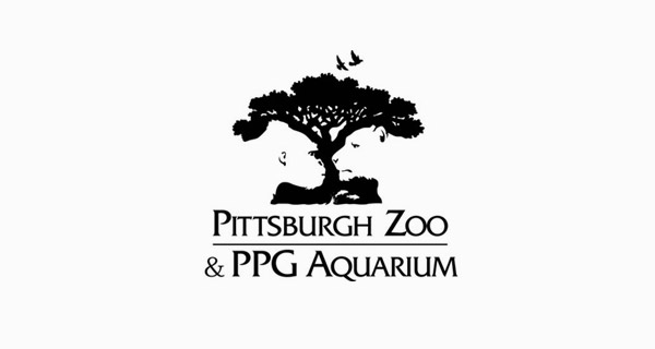 Creative logo designs that use negative space - Pittsburgh Zoo