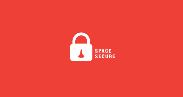 Creative logo designs that use negative space - Space Secure
