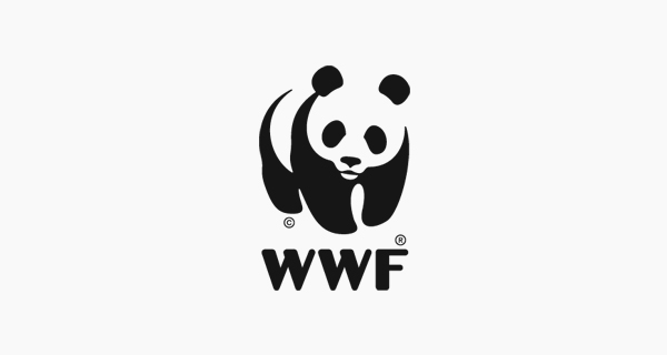 Creative logo designs that use negative space - WWF