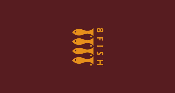 Creative logo designs that use negative space - 8 Fish