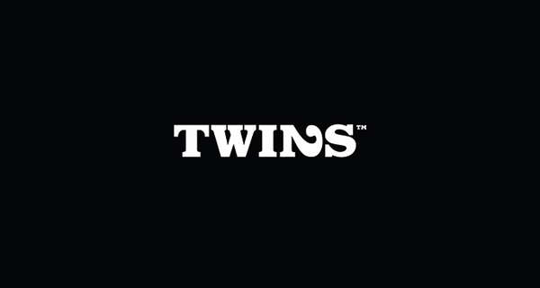 Creative logo design using numbers and digits - Twins