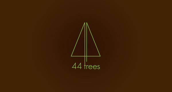 Creative logo design using numbers and digits - 44 Trees