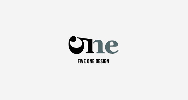 Creative logo design using numbers and digits - Five One Design
