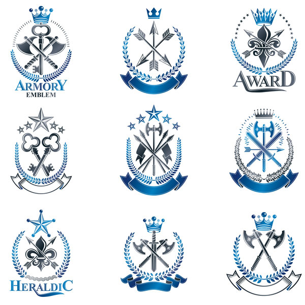 Hight Quality Royal Labels vector 03
