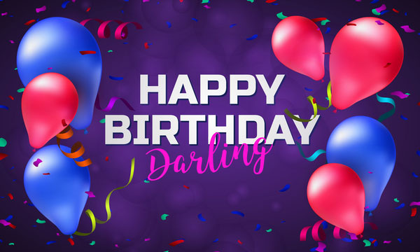 Birthday background with balloons and confetti vector 02