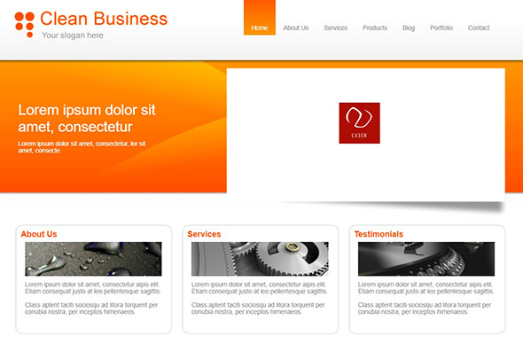 Clean Business & PHP Website Template