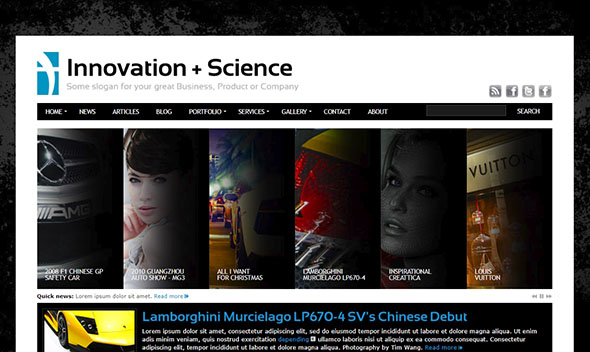 Innovation+Science PHP Website Template