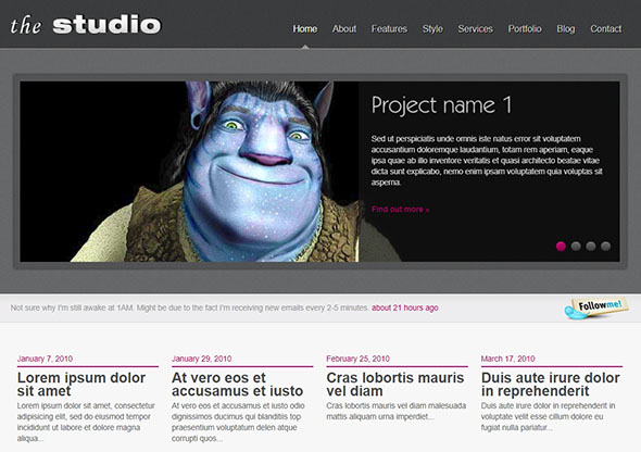 The Studio - PHP Website Template