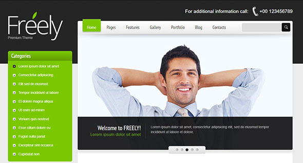 Freely Premium PHP Website Template